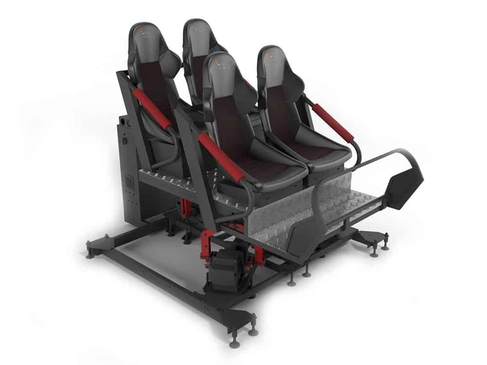 VR motion simulator ride - Turbo Ride 4